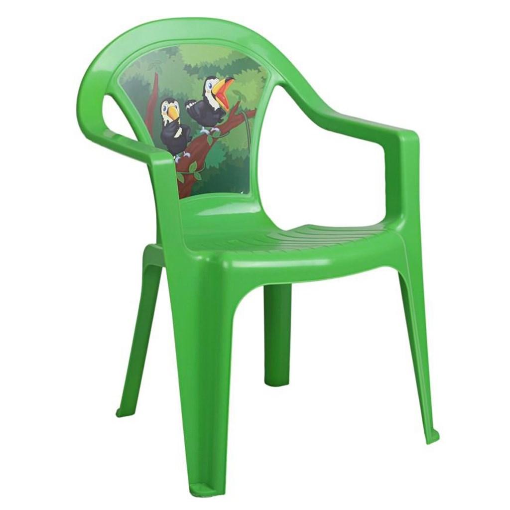 Dětský zahradní nábytek - Plastová židle