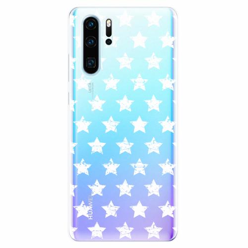 Silikonové pouzdro iSaprio - Stars Pattern - white - Huawei P30 Pro