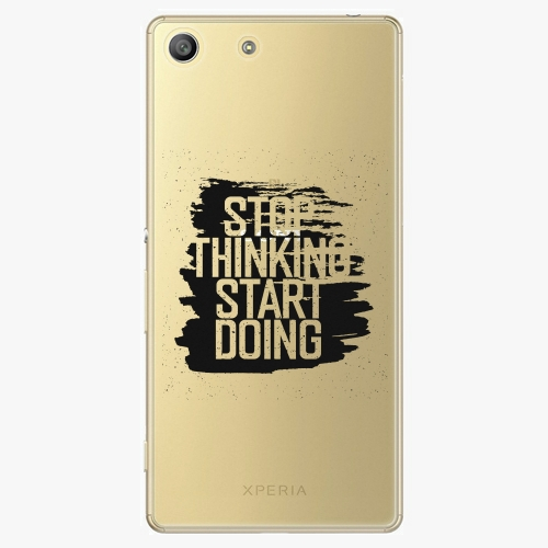 Plastový kryt iSaprio - Start Doing - black - Sony Xperia M5