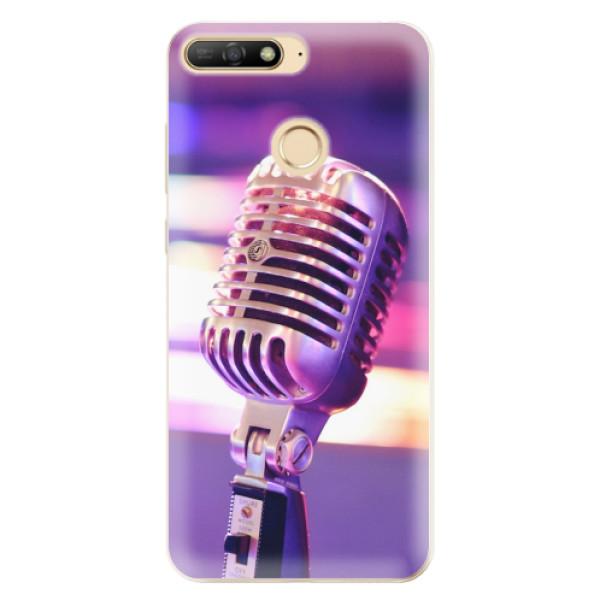 Odolné silikonové pouzdro iSaprio - Vintage Microphone - Huawei Y6 Prime 2018