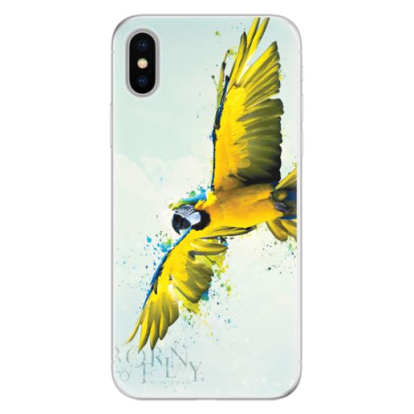 Silikonové pouzdro iSaprio - Born to Fly - iPhone X
