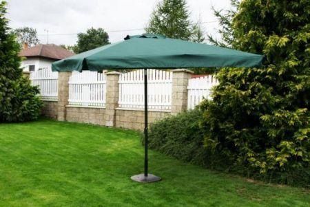 Čtvercový slunečník - zelený 270 x 270 cm