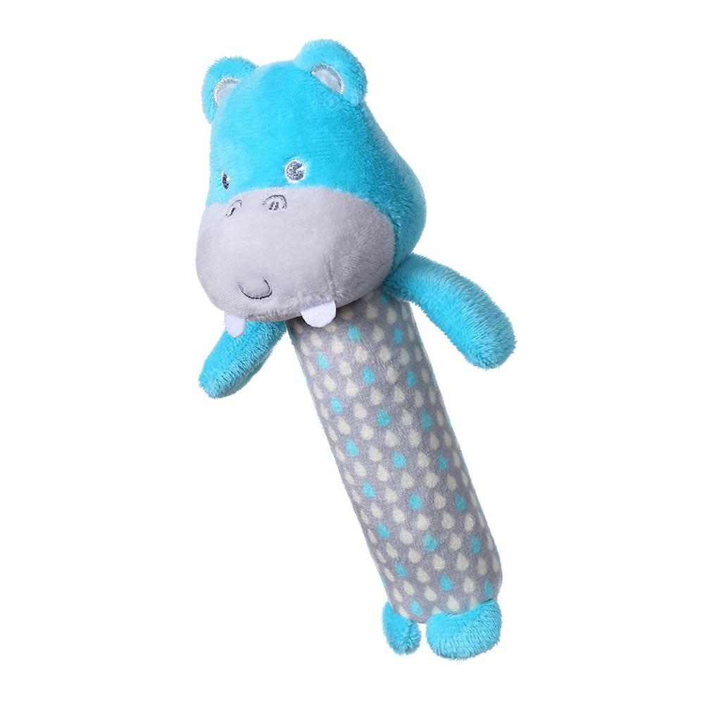 Plyšová pískací hračka Baby Ono Hippo Marcel - modrá
