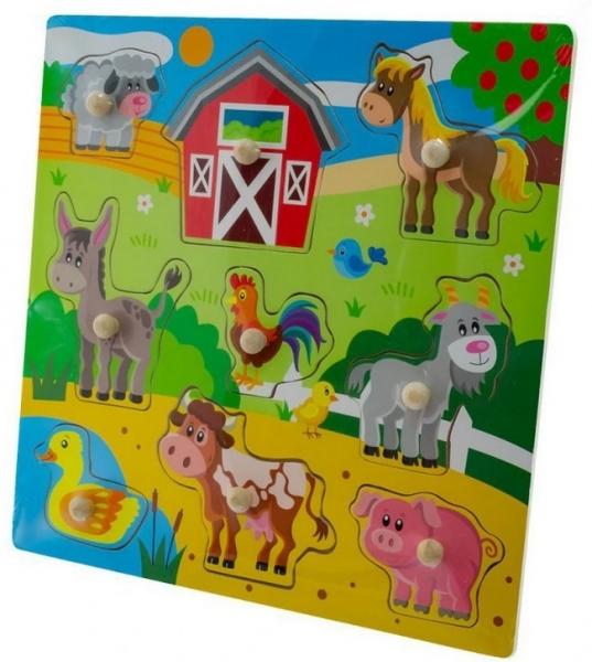 Tulimi Dřevěné zábavné puzzle vkládací - Velká farma