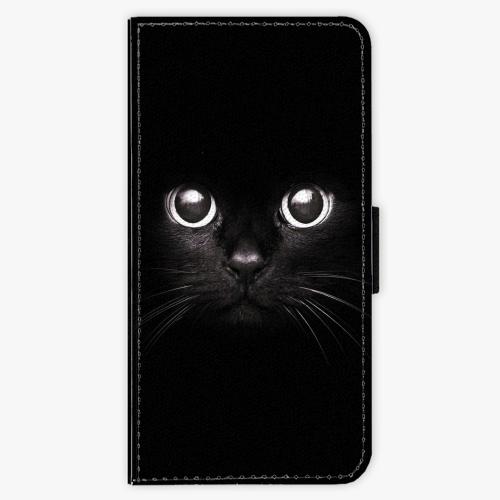 Flipové pouzdro iSaprio - Black Cat - iPhone 7 Plus