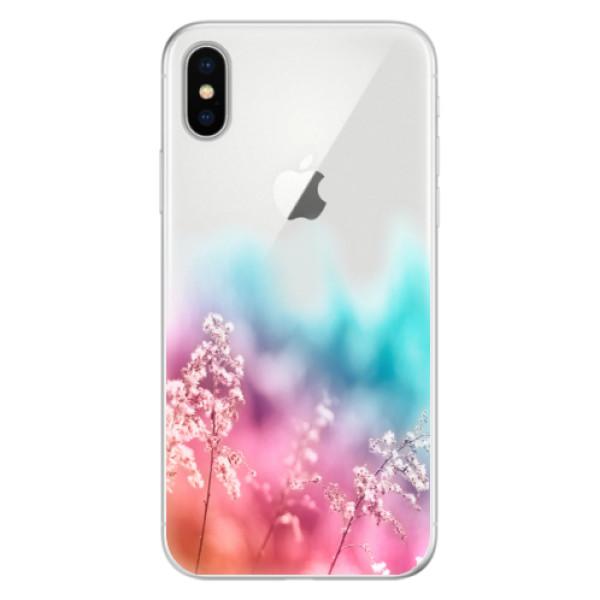 Silikonové pouzdro iSaprio - Rainbow Grass - iPhone X