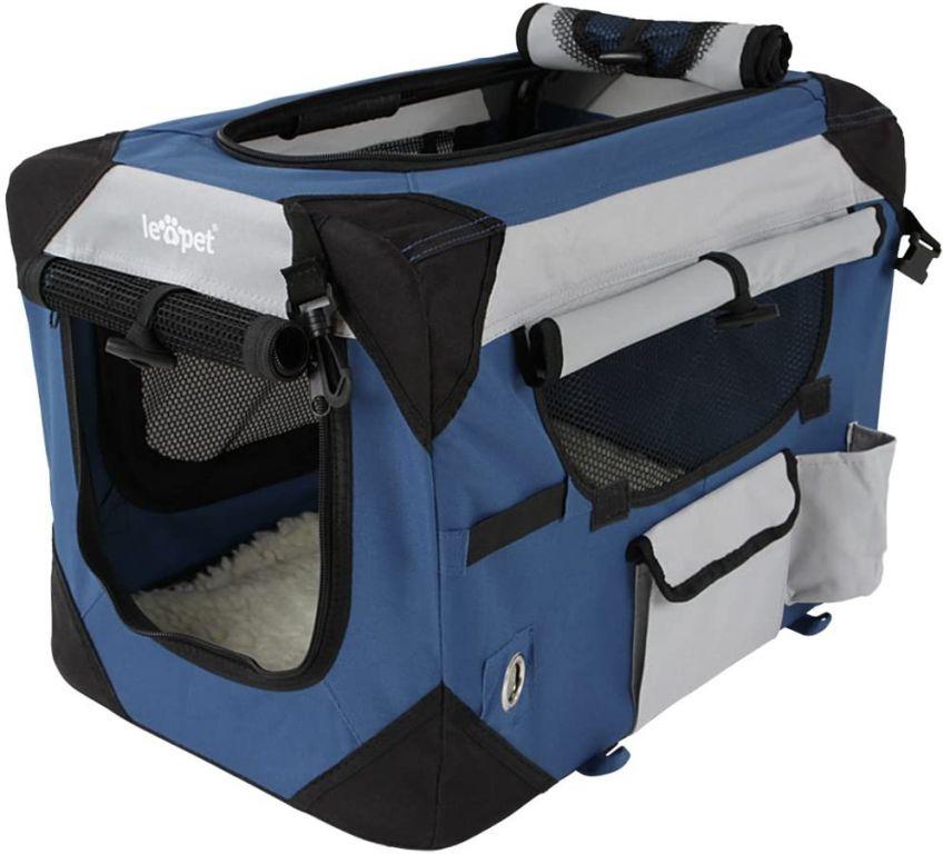 Kennel přepravka pro psa, modrá, 50 x 35 x 35 cm