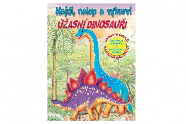 Pracovní sešit Úžasní dinosauři CZ verze - 21 x 28 cm