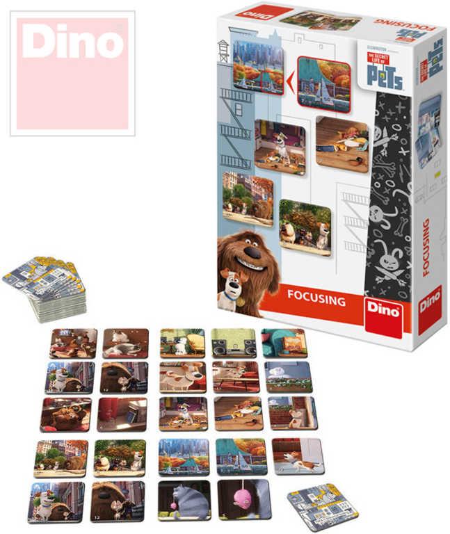 DINO Hra Pexeso Tajný život mazlíčků 48 kartiček v krabici