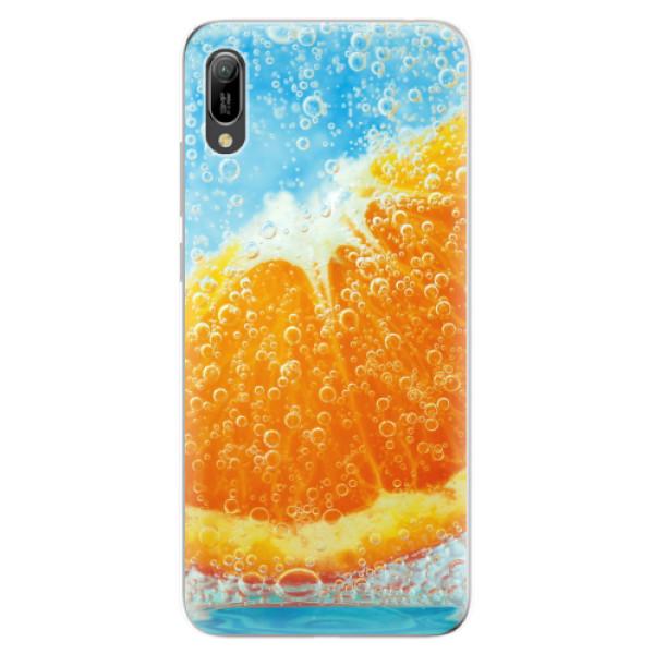Odolné silikonové pouzdro iSaprio - Orange Water - Huawei Y6 2019