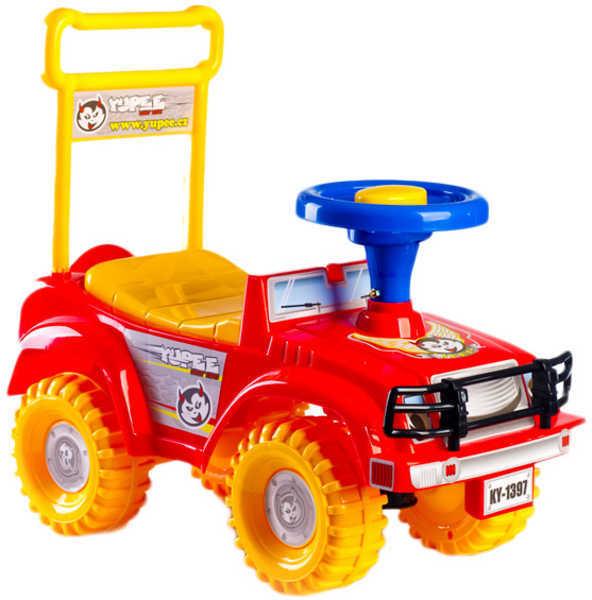 Odrážedlo auto jeep YUPEE červené Odstrkovadlo PLAST