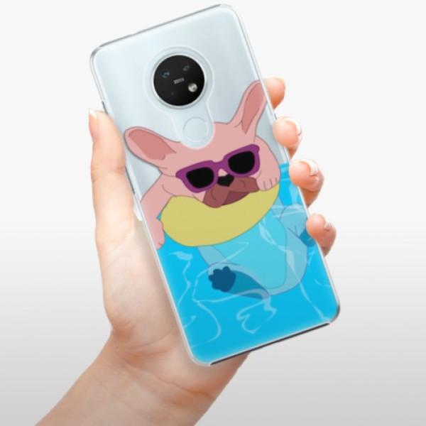 Plastové pouzdro iSaprio - Swimming Dog - Nokia 7.2