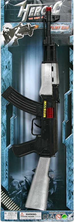 Samopal plastový AK-47 rachtací 56cm dětská zbraň na kartě