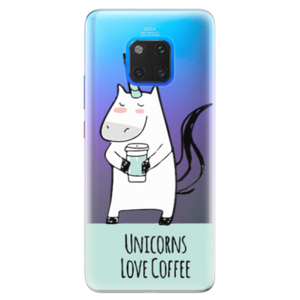 Silikonové pouzdro iSaprio - Unicorns Love Coffee - Huawei Mate 20 Pro