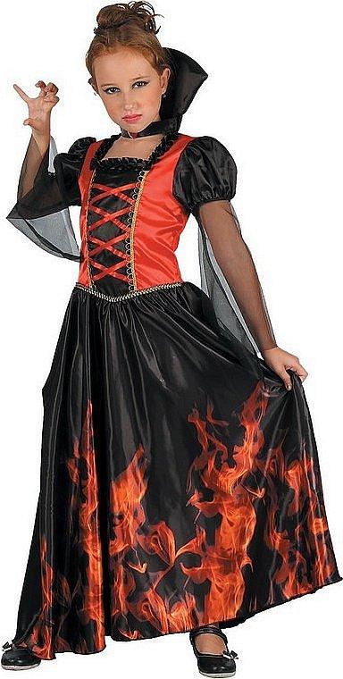 Šaty na karneval - upírka, 130-140 cm