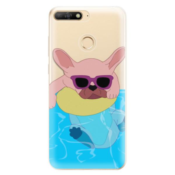 Odolné silikonové pouzdro iSaprio - Swimming Dog - Huawei Y6 Prime 2018