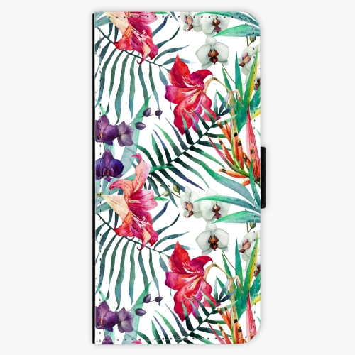 Flipové pouzdro iSaprio - Flower Pattern 03 - Samsung Galaxy S7 Edge