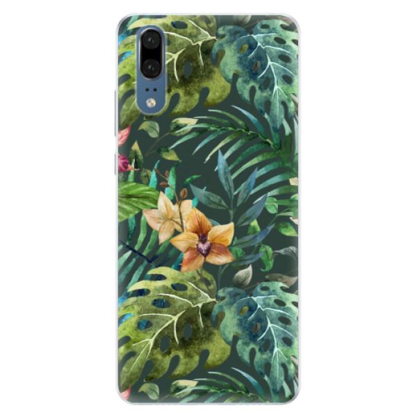 Silikonové pouzdro iSaprio - Tropical Green 02 - Huawei P20