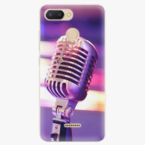 Silikonové pouzdro iSaprio - Vintage Microphone - Xiaomi Redmi 6