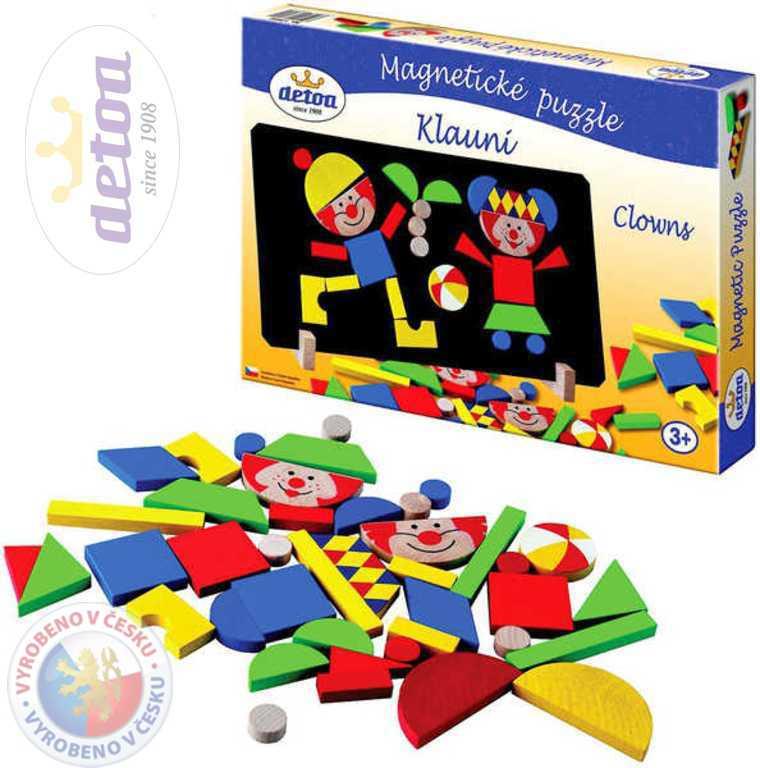 DETOA Puzzle klauni magnetické * DŘEVĚNÉ HRAČKY *