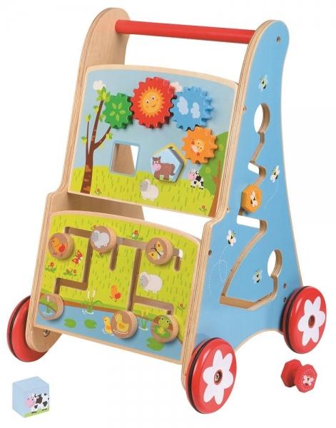 Edukační dřevěné chodítko, jezdítko - Rybník