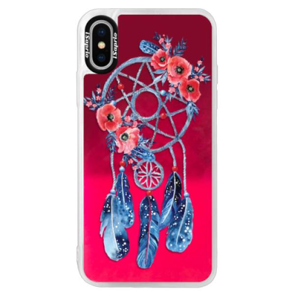 Neonové pouzdro Pink iSaprio - Dreamcatcher 02 - iPhone XS