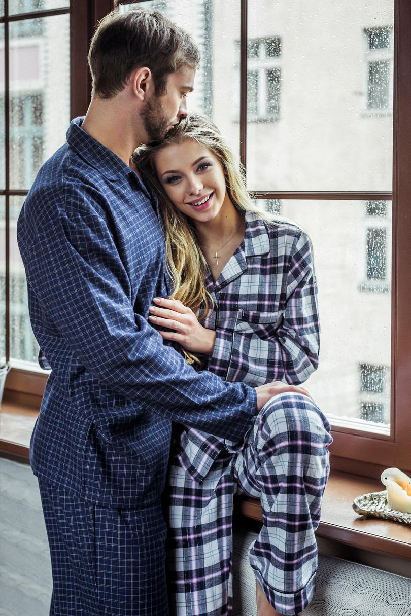 Pánské pyžamo MNS 418 3XL-4XL - Tmavě modrá/4XL
