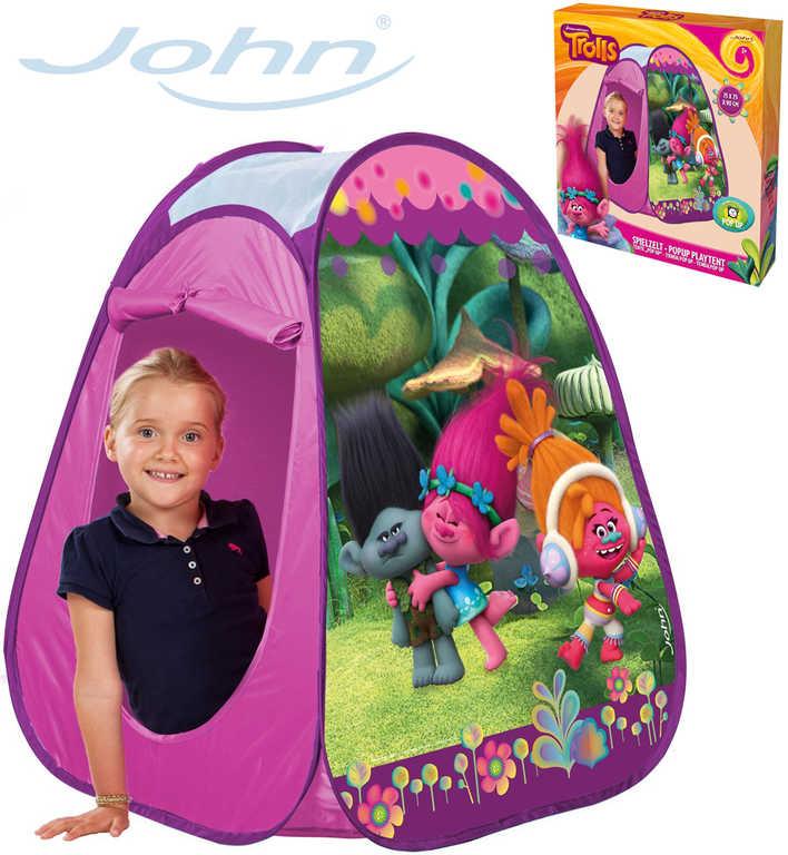 JOHN Stan dětský zahradní Trollové 75x75x90cm růžový pro holčičky