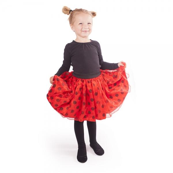 Dětská sukně tutu Beruška s puntíky