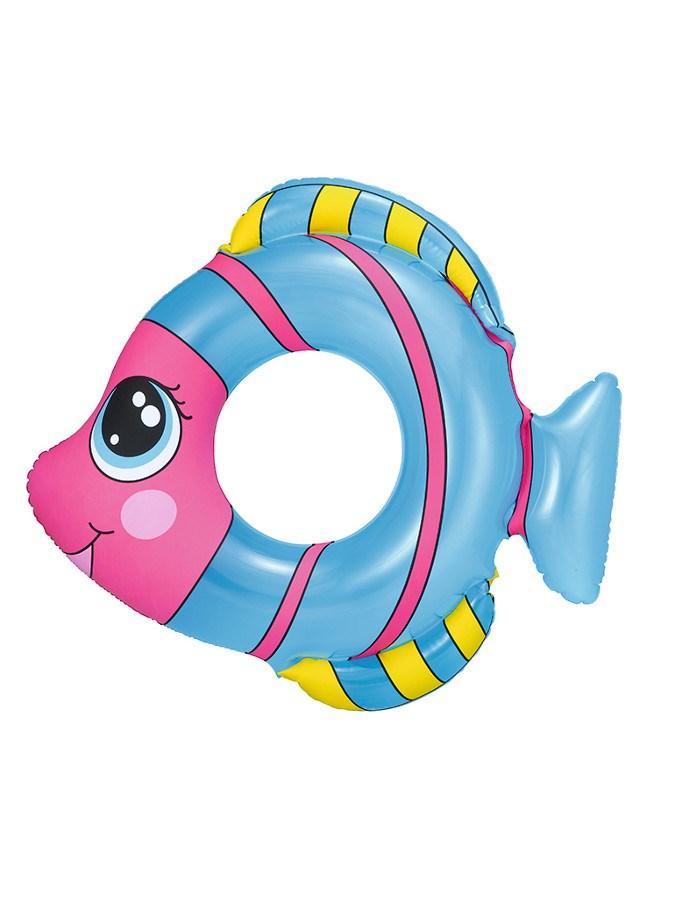 Dětský nafukovací kruh Bestway ve tvaru rybky - modrá