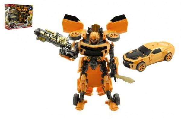 Auto/Transformer žluté plast v krabici 28x23x8cm