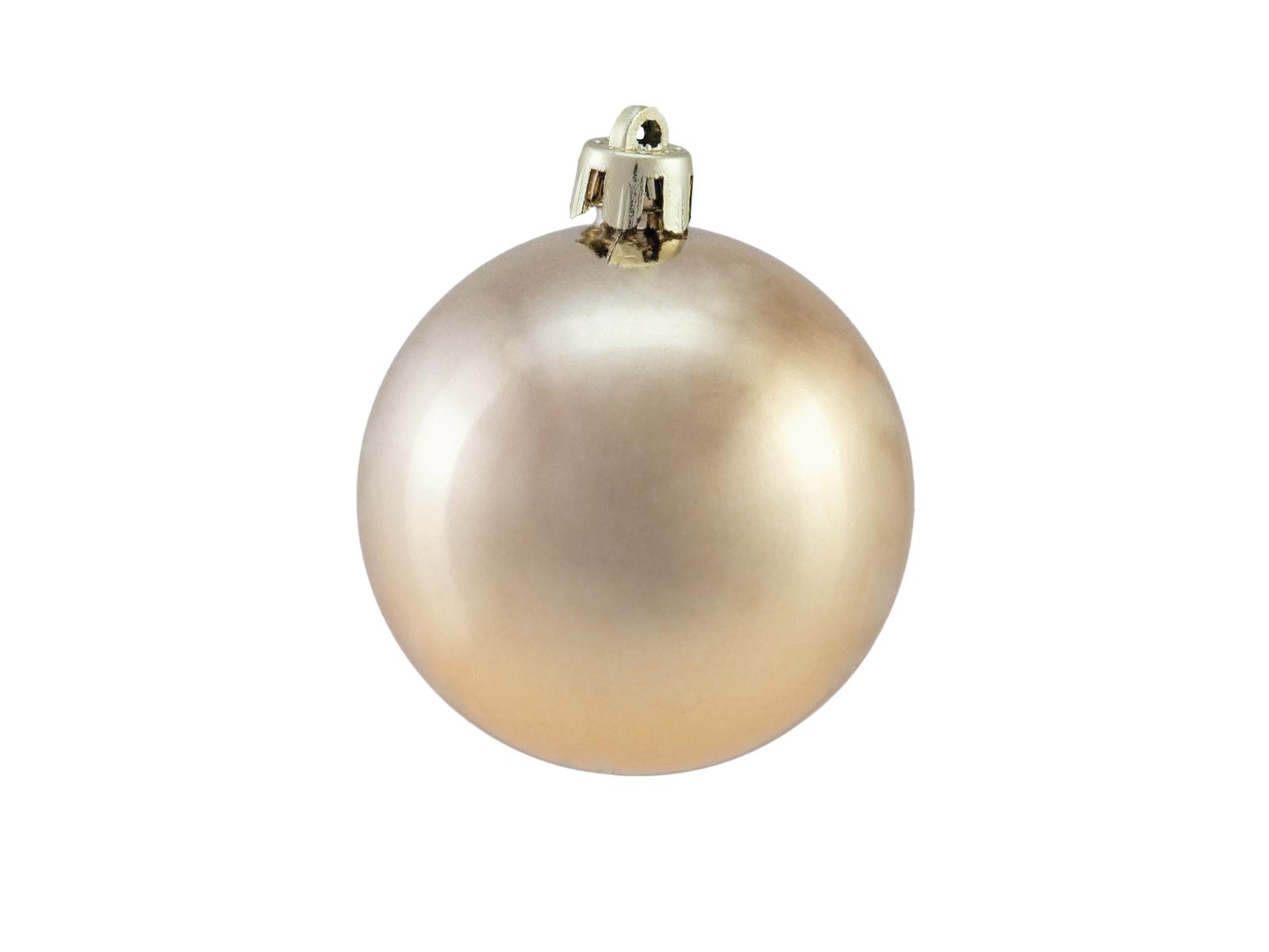 Vánoční dekorační ozdoby, 6 cm, měděná metalíza, 6 ks
