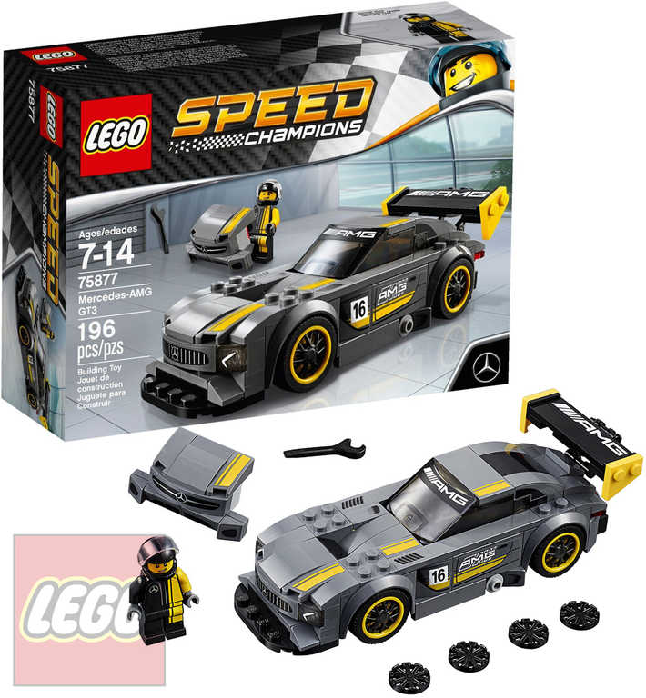 LEGO SPEED CHAMPIONS Mercedes AMG GT3 75877 STAVEBNICE