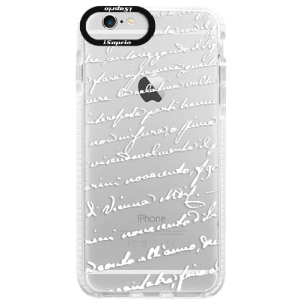 Silikonové pouzdro Bumper iSaprio - Handwriting 01 - white - iPhone 6/6S