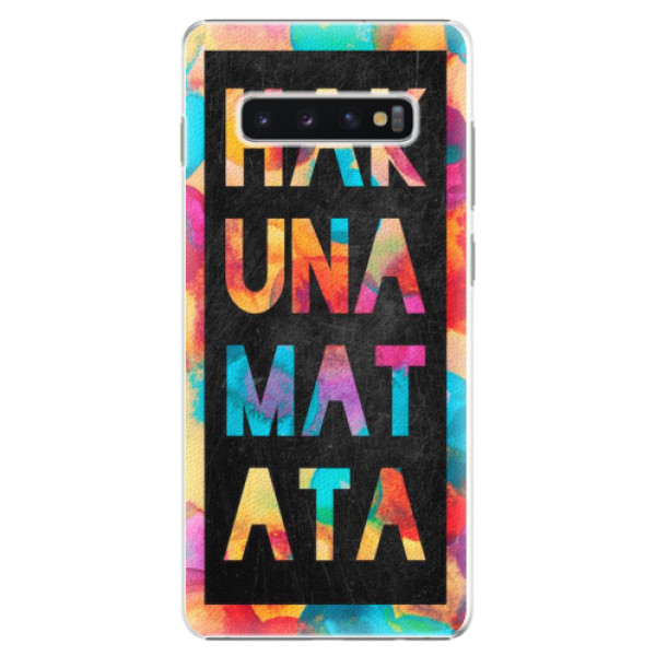 Plastové pouzdro iSaprio - Hakuna Matata 01 - Samsung Galaxy S10+