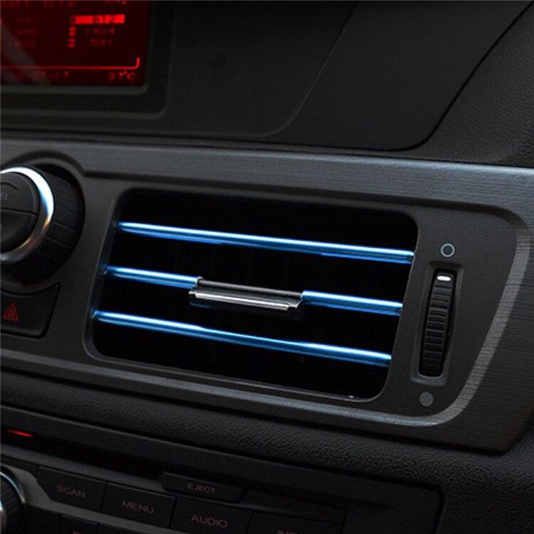 Dekorační lišty na ventilační mřížku auta - modrá