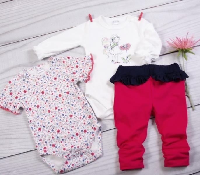 K-Baby 3 dílná sada - 2x body dlouhý a krátký rukáv