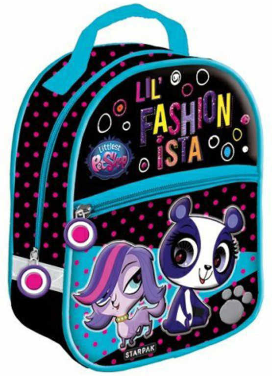 ET Batoh mini Littlest Pet Shop 1 komora + přední kapsa na zip