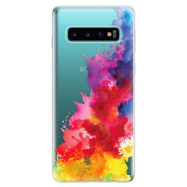 Odolné silikonové pouzdro iSaprio - Color Splash 01 - Samsung Galaxy S10