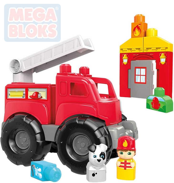 MEGA BLOKS Baby kostky Hasičský vůz stavebnice pro miminko