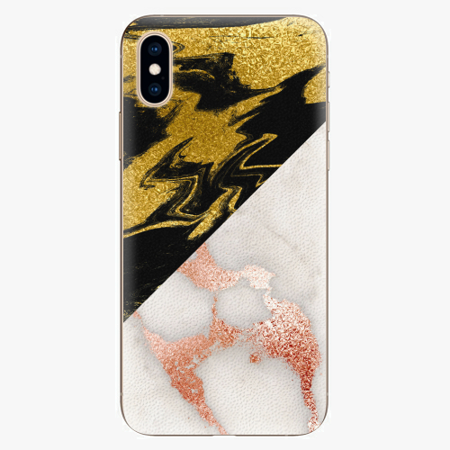 Silikonové pouzdro iSaprio - Shining Marble - iPhone XS