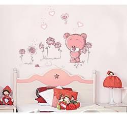 Dětské samolepky na zeď - Medvídek