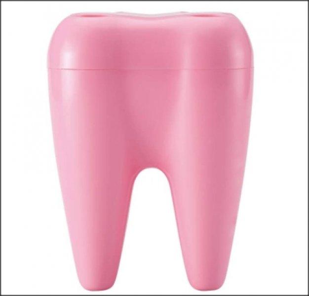 Zubní držák kartáčků - Růžová