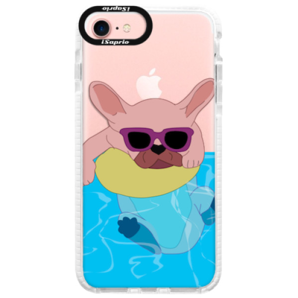 Silikonové pouzdro Bumper iSaprio - Swimming Dog - iPhone 7