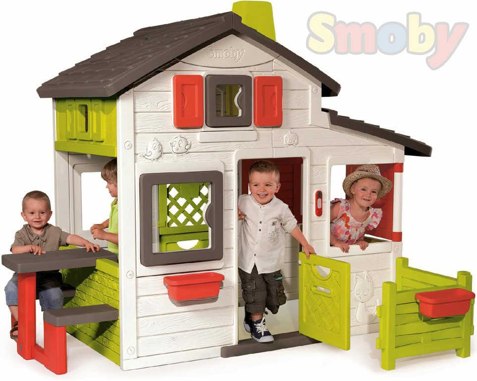 SMOBY Domeček dětský zahradní Friends House se zvonkem Zvuk plast