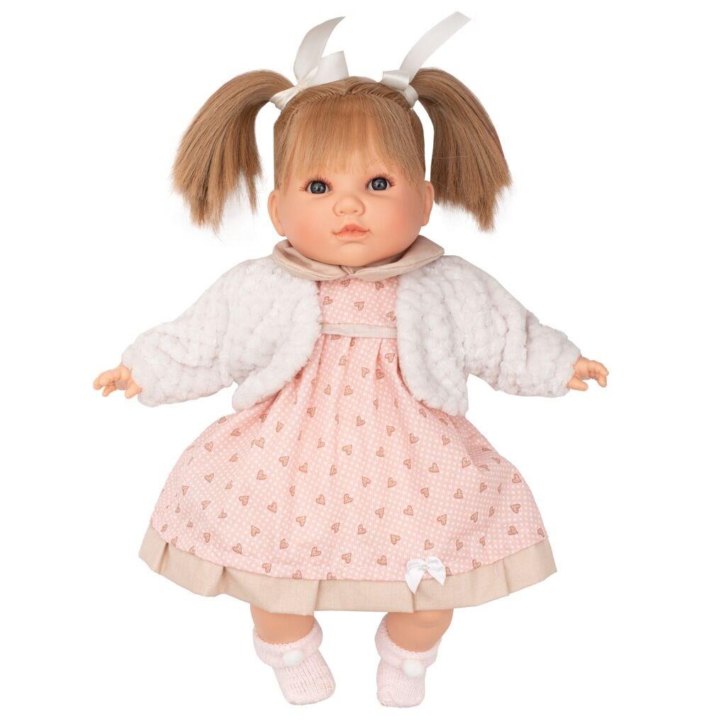 Luxusní mluvící dětská panenka-holčička Berbesa Natálka 40cm - růžová