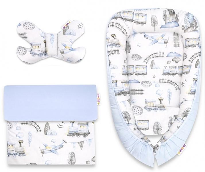 baby-nellys-sada-komplet-oboustranne-hnizdecko-55-x-85-cm-vlacek-modra