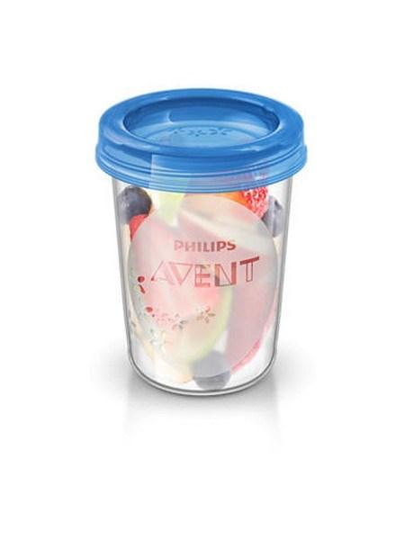 Sada Via pohárků s víčkem Avent 240 ml - 5 ks - bílá