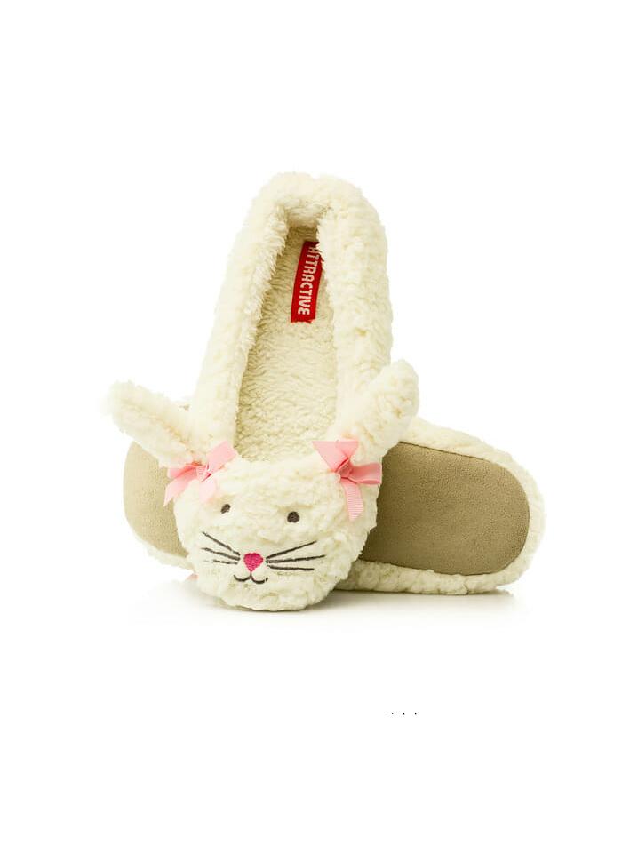 Dámské papuče Baleríny 1337 Animals - Attractive - Ecri(krémová)/36-37