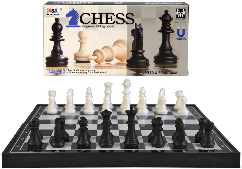 Hra šachy magnetické skládací plast *SPOLEČENSKÉ HRY*